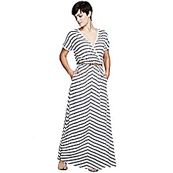 HotSquash - Grey Striped Maxi Dress in CoolFresh fabric