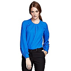 HotSquash - Cobalt Crewneck long sleeve top in clever fabric