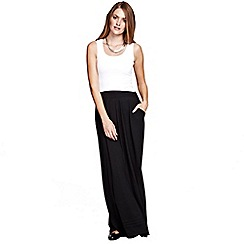 HotSquash - Black Maxi Skirt with Pintucks in clever thermal fabric