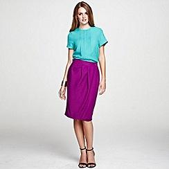 HotSquash - Berry Wrap skirt with diagonal waistband pleats