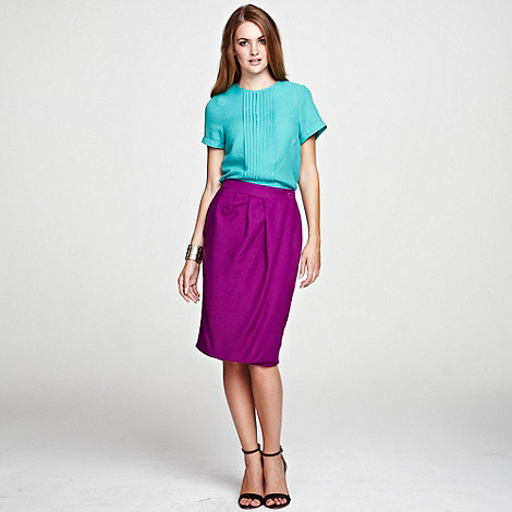 HotSquash - Berry Wrap skirt with diagonal waistband pleats