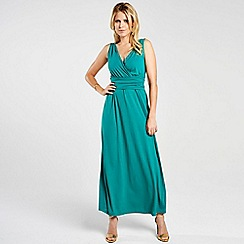 HotSquash - Green v neck maxi dress in CoolFresh fabric