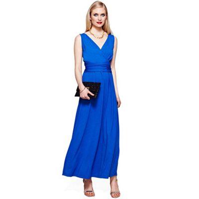 Cobalt v neck maxi dress in CoolFresh fabric