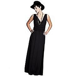 HotSquash - Black v neck maxi dress in CoolFresh fabric