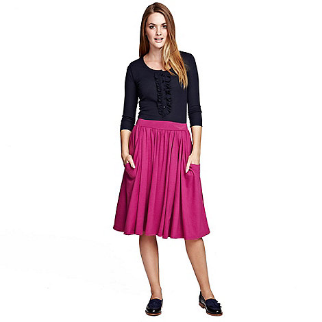 HotSquash - Berry Floaty fit +n flare skirt in ThinHeat