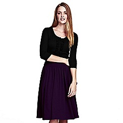 HotSquash - Damson floaty fit 'n flare skirt in ThinHeat