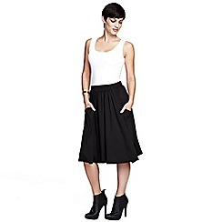 HotSquash - Black floaty fit 'n flare skirt in ThinHeat