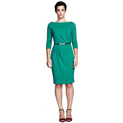 Lawn slash neck tuck detail dress in ThinHeat