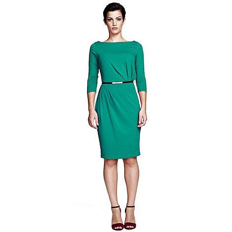 HotSquash - Lawn slash neck tuck detail dress in ThinHeat