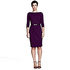 HotSquash - Damson slash neck tuck detail dress in ThinHeat