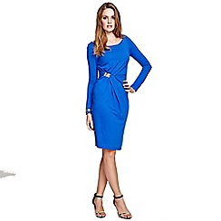 HotSquash - Cobalt Long Sleeve Dress with Gather Detail