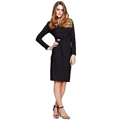Black Long Sleeve Dress in ThinHeat