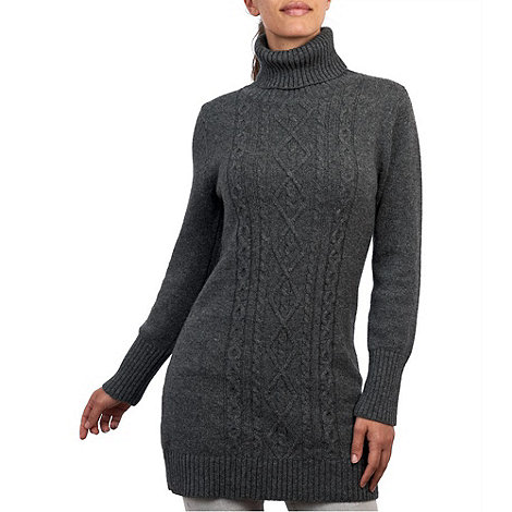 HotSquash - Grey HotSquash Wooluxe lambswool sweater dress