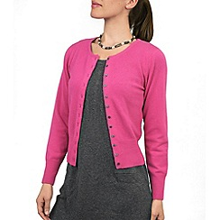 HotSquash - Hot Pink neat cashmere cropped cardigan
