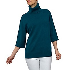 HotSquash - Dark Turquoise cashmere Wooluxe jumper