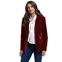 HotSquash - Cherry velvet jacket with clever fabric
