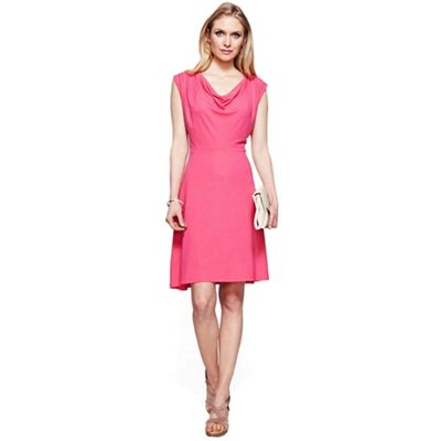 Pink knee length cowl dress with CoolFresh
