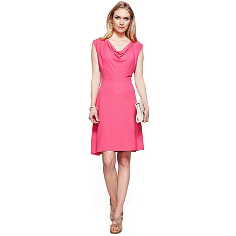 HotSquash - Pink knee length cowl dress with CoolFresh
