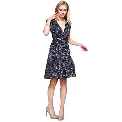 Dotty false wrap dress in unique CoolFresh
