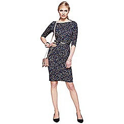 HotSquash - Dotty knee length slash neck dress with CoolFresh