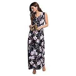 HotSquash - Occasion Print Maxi Dress in Clever Fabric