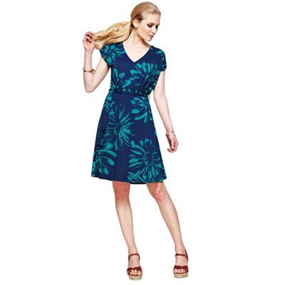 Knee length belted dress with CoolFresh