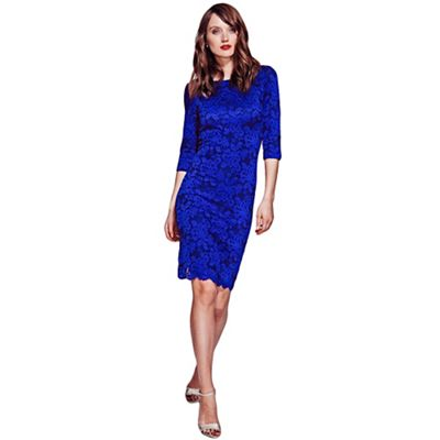 HotSquash Midnight blue lace dress with ThinHeat