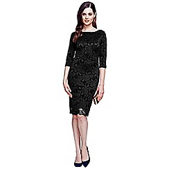 HotSquash - Black long sleeved lace dress with ThinHeat