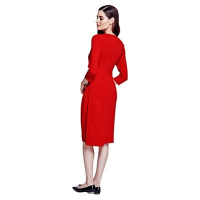 HotSquash Long sleeved red knee length dress