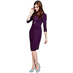 HotSquash - Long sleeved damson knee length dress