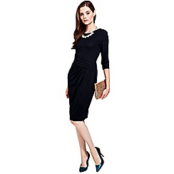 HotSquash - Long sleeved black kneelength dress