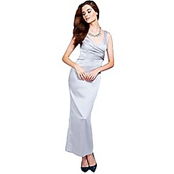 HotSquash - Silver long v neck dress with CleverTech