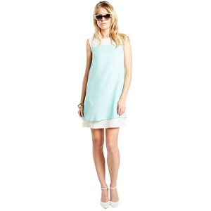 Plus Size Hotsquash Mint Knee-Skimming Dress in Clever Fabric