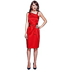 HotSquash - Red Kneelength Silk Dress