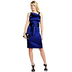 HotSquash - Royal blue kneelength silk dress