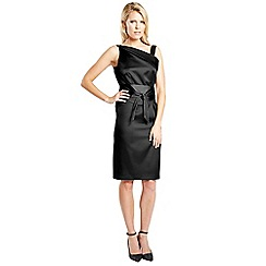 HotSquash - Black knee length silk dress