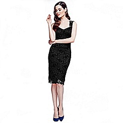 HotSquash - Black kneelength lace dress with TempReg