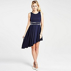 HotSquash - Navy dress with white trim