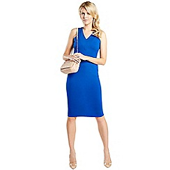 HotSquash - Cobalt kneelength dress with v neck