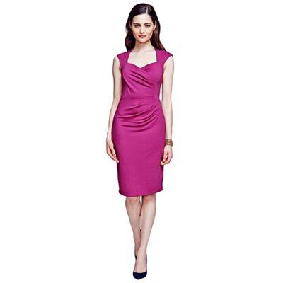 HotSquash Fuchsia short sleeved dress in clever fabric - . -