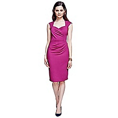 HotSquash - Fuchsia short sleeved dress in clever fabric