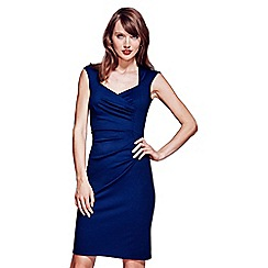HotSquash - Navy short sleeved dress in clever fabric