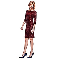HotSquash - Wine kneelength sequin dress