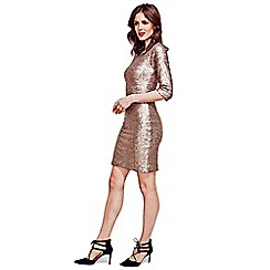 HotSquash - Light Gold Sequin Dress in Clever Thermal Fabric