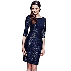 HotSquash - Dark blue knee length sequin dress