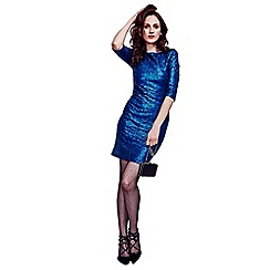 HotSquash - Bright Blue Sequin Dress in Clever Thermal Fabric