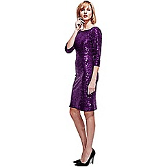 HotSquash - Purple Sequin Dress in Clever Thermal Fabric