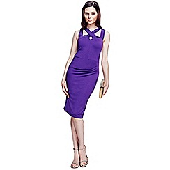 HotSquash - Purple criss cross detail dress in unique fabric