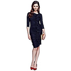 HotSquash - Black long sleeved dress with frill detail