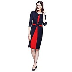 HotSquash - Black and red double layered cross dress